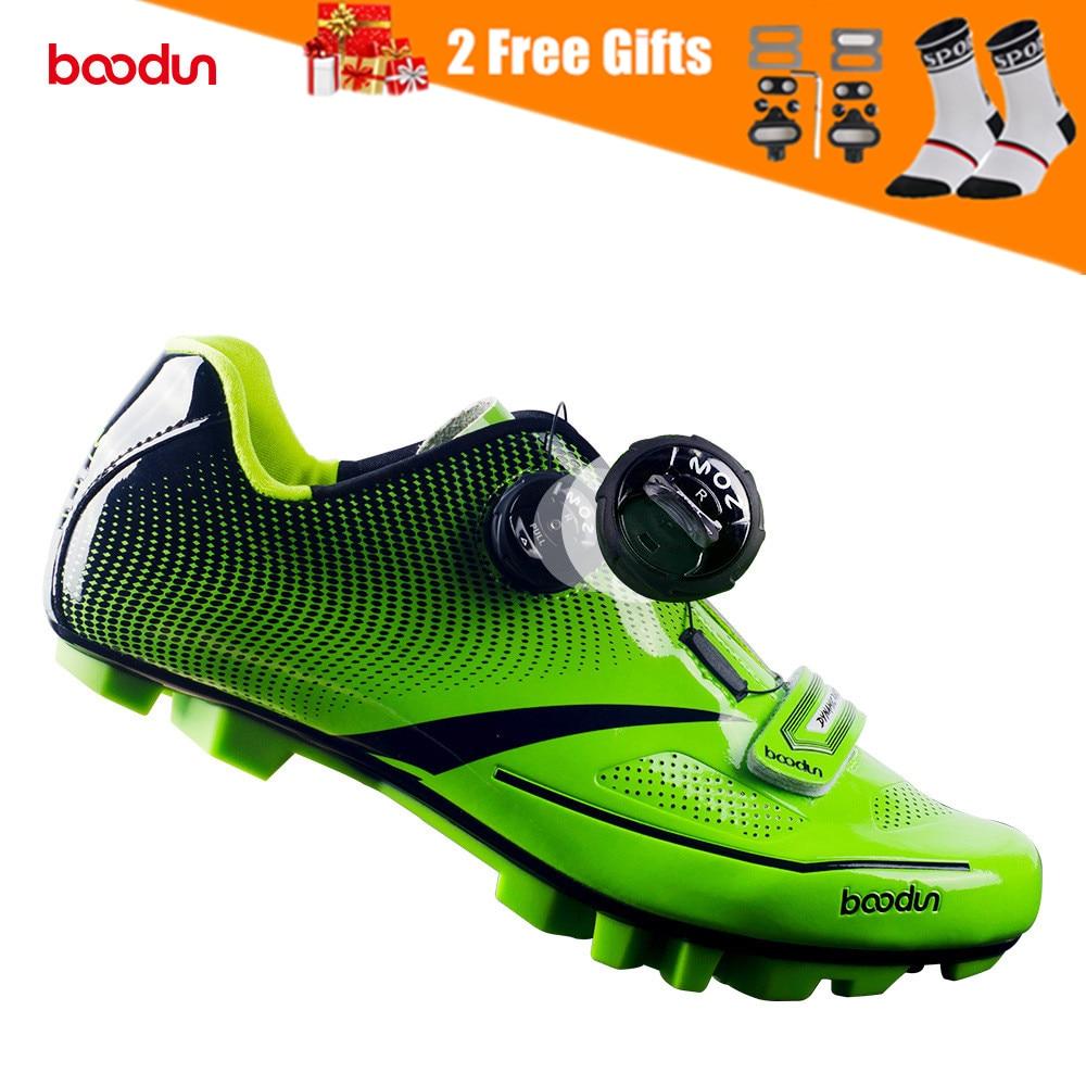 Sapatos de Ciclismo dos Homens Sapatos de Bicicleta de Estrada Sapatos de Bicicleta de Montanha Boodun Sapatos Reflexivos Ciclo Tênis Triathlon Corrida Mtb