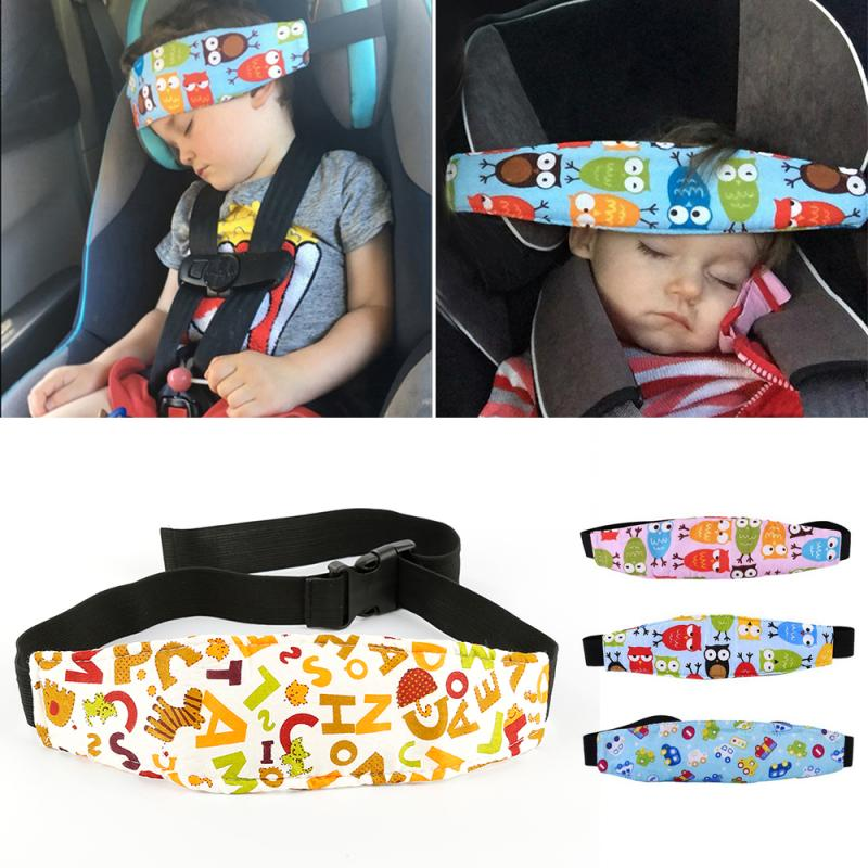 Child Auto Car Safety Seat Head Support Fixing Pad Pillow Auxiliary Cotton Belt Pram Secure Strap Band For Baby Pram Kids Safety