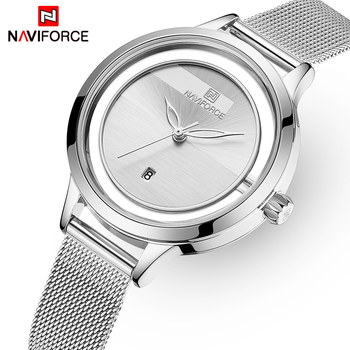 NAVIFORCE 5014 Women's Watches Beautiful Unique Design Quartz Wristwatch Ladies Clock with box