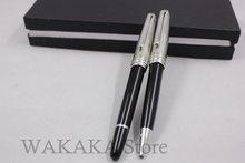 Wakaka mon série de bouchon en argent noir argent rouleau stylo à bille stylo à bille à encre blanc