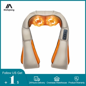Electric Neck Massage Shiatsu Infrared Shoulder Cervical Relief Pain U Shape Heating Massager Kneading Car/Home Relaxation Tool