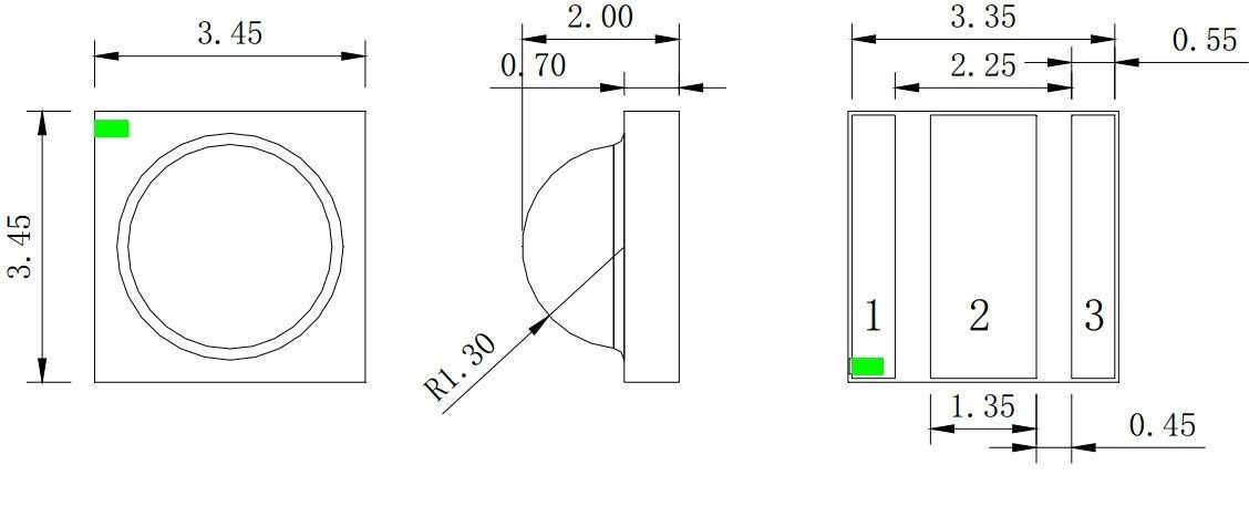 Contas de luz led uv uva 375nm smd3535 3 w cree