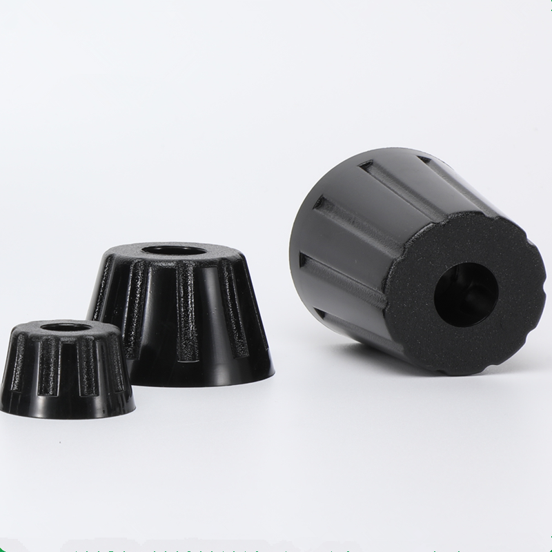8pcs Conical Rubber Furniture Legs Speaker Cabinet Bed Table Box Machine Increased Feet Shock Pad Tile Floor Protectors