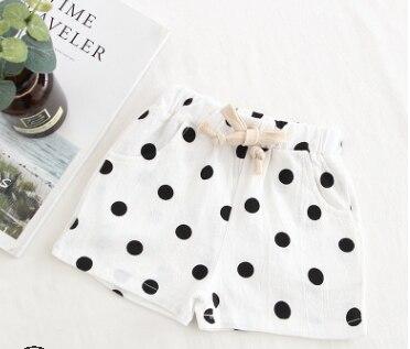 Baby Toddler Girls Casual Shorts Polka Dots Bloomer Drawstring Elastic Waist Short Pants Bottoms Baby Pants Children's Shorts