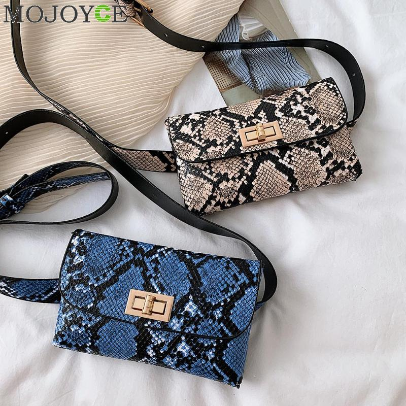 2019 Newest Women Waist Fanny Pack Belt Bag Travel Hip Bum Bag Small Purse Chest Pouch Snake Skin Belt Bag