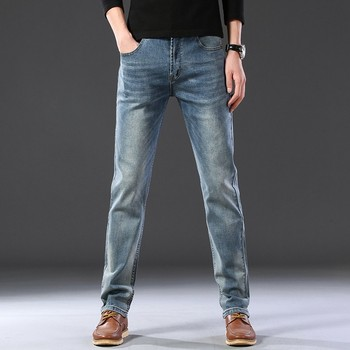 2020 SULEE Top Brand New Men's Jeans Business Casual Elastic Comfort Straight Denim Pants Male High Quality Brand Trousers