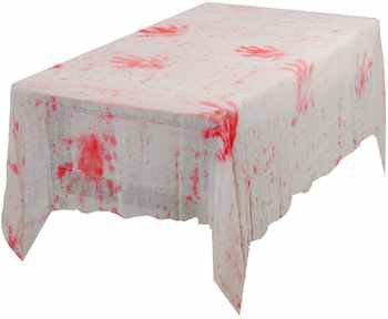 METABLE 10PCS Halloween Table Cloth Blood Cover Scary Hand Print Horror House Decoration Spooky Entertainment Themed Party - Category 🛒 Home & Garden