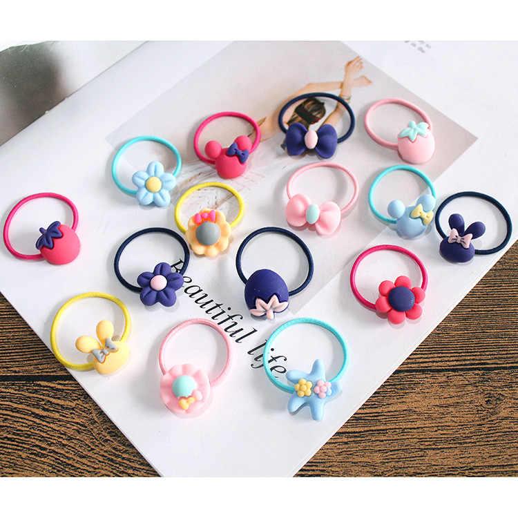 10 個素敵な花プリンセス帽子ベビー頭飾り女の子ヘアアクセサリー子供弾性ヘアバンド子供ヘアロープ