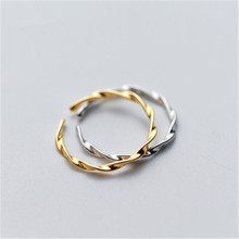 925 sterling silver The adjustable ring Twist kink Holiday gift lovers fashion jewelry