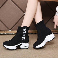 Spring Breathable Stretch Fabric Socks Outdoor Women Shoes Platform Elastic Sneakers Tenis Feminino Casual Female Shoes Woman W6