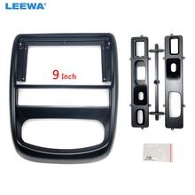 "LEEWA Car Stereo 9"" 2Din Big Screen Fascia Frame Adapter For Renault Duster Dash Audio Fitting Panel Frame Kit #CA6696"