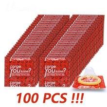 10 Pçs/lote 55 55mm Grandes Preservativos de Tamanho Plus Size mm Grande Tolera A Contracepção Brinquedos Adultos Do Sexo Pênis Luva de Látex Natural