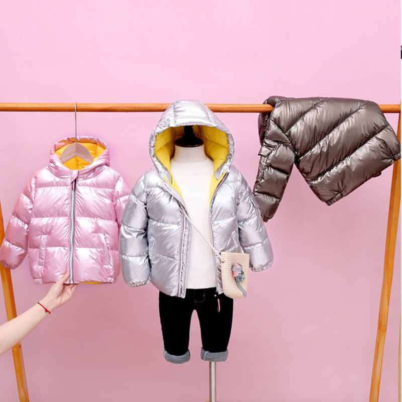 Boys Girls Jackets Hooded Outerwear Winter Children Warm Thick Jacket For Kids Clothes Baby Outerwear Zipper Coats Ski Jacket 2