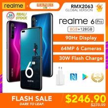 Realme 6 Pro 6pro wersja globalna 8GB RAM 128GB ROM 90Hz wyświetlacz Snapdragon 720G 30W szybkie ładowanie 64MP aparat NFC sklep google Play