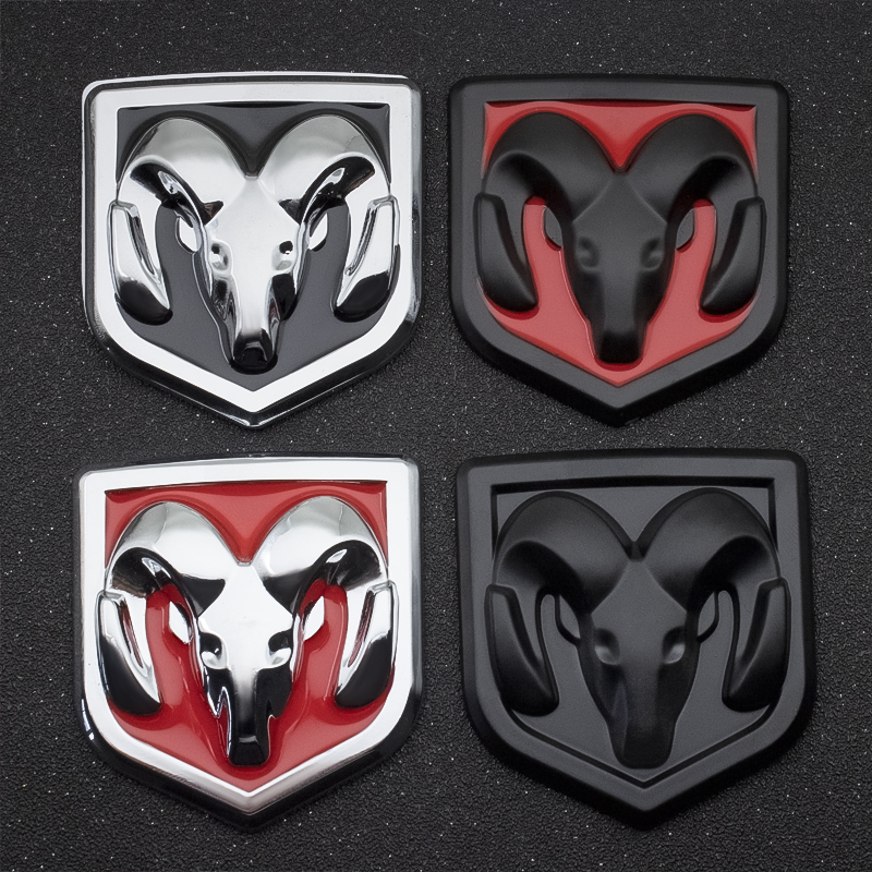 1PCS 3D Car Styling Sticker Metal Emblem Rear Tailgate Badge For Dodge Journey Ram 1500 Challenger Caliber Nitro Charger Durango