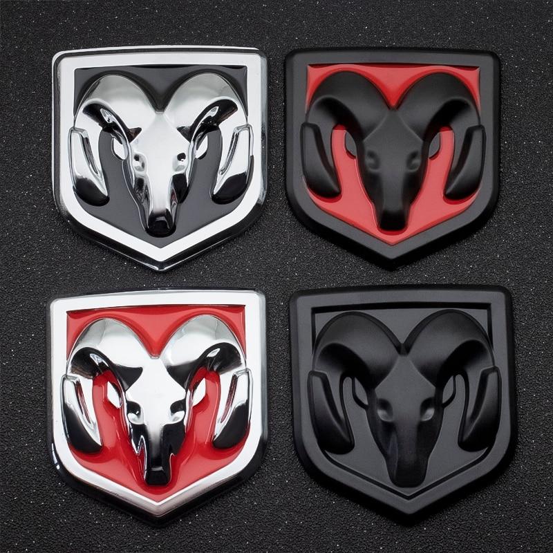 1PCS 3D Car Styling Sticker Metal Emblem Rear Tailgate Badge For Dodge Journey Ram 1500 Challenger Caliber Nitro Charger Durango
