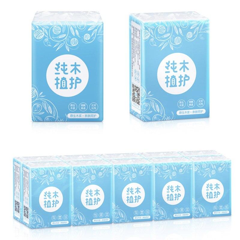 10 Packs Mini Paper Towel 3-ply Napkin Home Travel Outdoor Portable Soft Tissue New TT@88