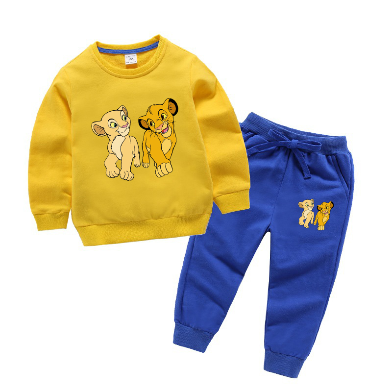 Fashion trend toddler Baby boy girl new year clothes autumn and winter Clothing Suits Cartoon Sets sweater baby two-piece