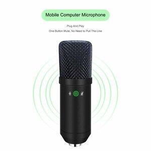 Image 2 - USB Microfono A Condensatore Kit Karaoke Microfono da Studio Mic per il Telefono Trasmissione In Diretta On Line Chat Registrazione