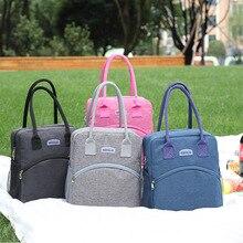 Breakfast-Bag Lunch-Bag Fresh Picnic Waterproof Portable High-Capacity Unisex Long Q