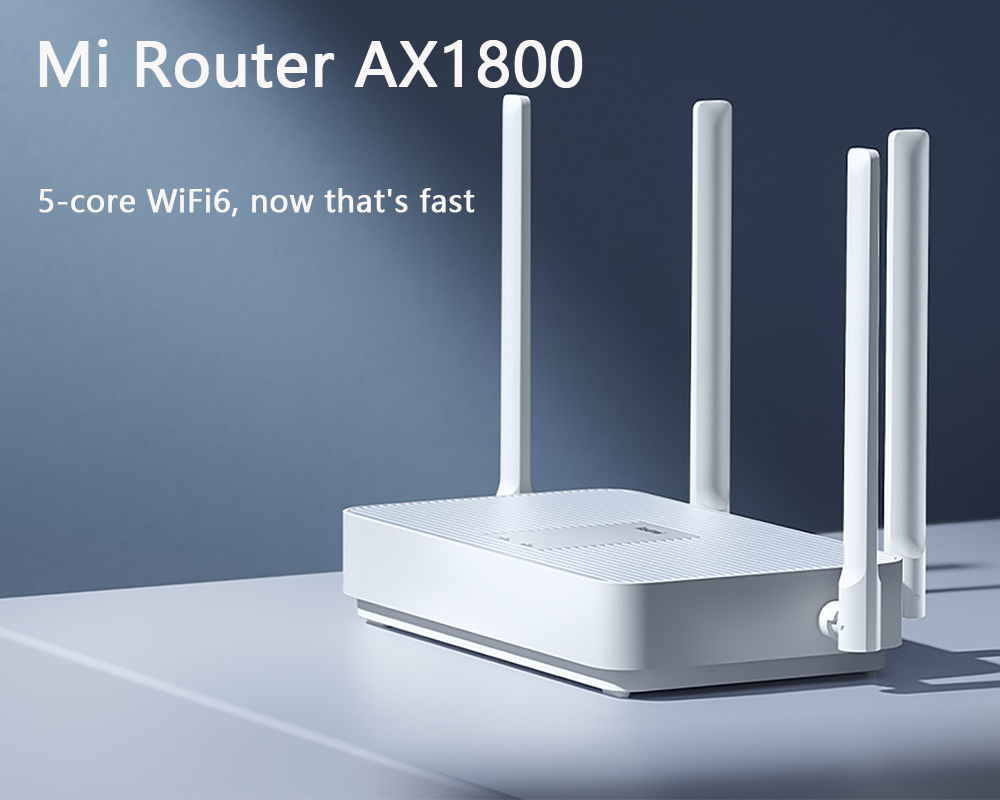 Globale Version Xiaomi Mi Router AX1800 5-core WiFi6 1800 Mbps 256MB Dual-Band 4 Externe Antennen stabil verbindet zu 128 geräte 2