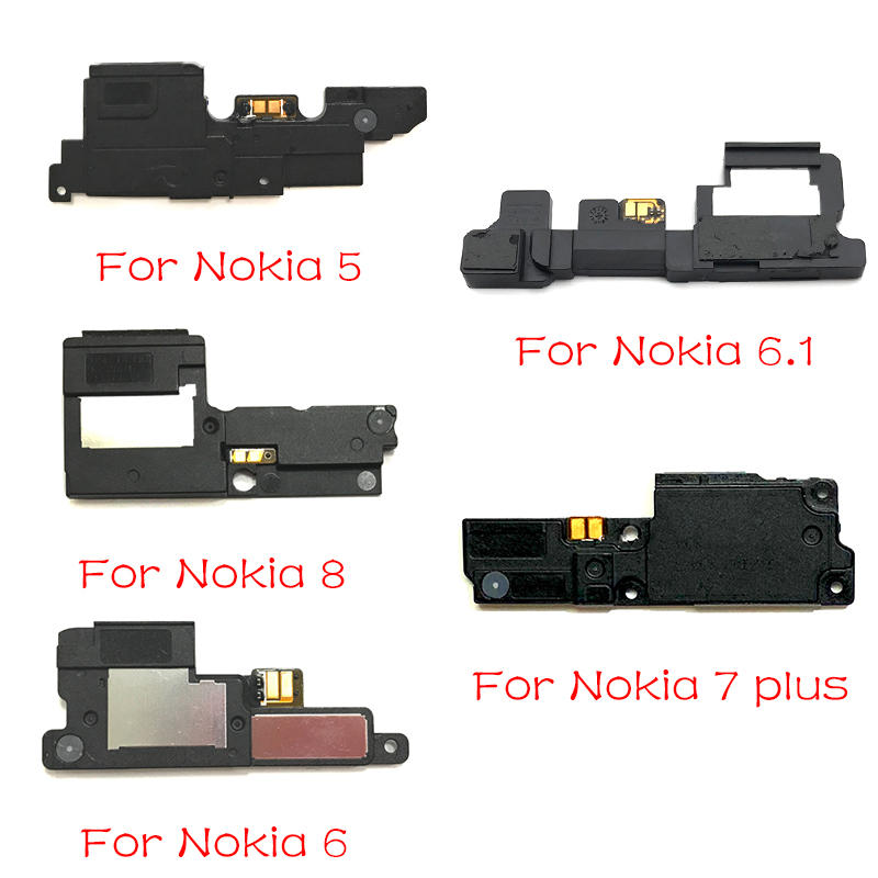 New For Nokia 3 5 6 7 8 7.1 6.1 Plus X5 X6 Loud Speaker Buzzer Ringer Flex Cable Loudspeaker Assembly Replacement Parts