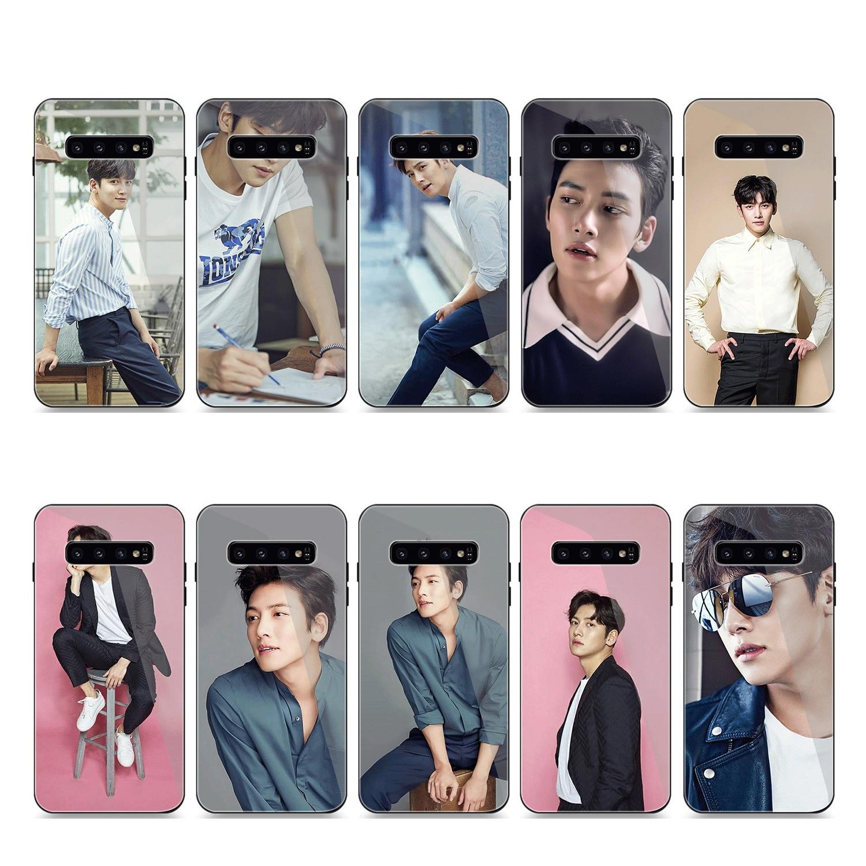 Caixa do telefone De Vidro Para Samsung A70 A50 A30 A40 A20 A60 A10 S7 Borda S8 S9 S10 Plus Nota 8 tampa 9 Ji Chang Wook