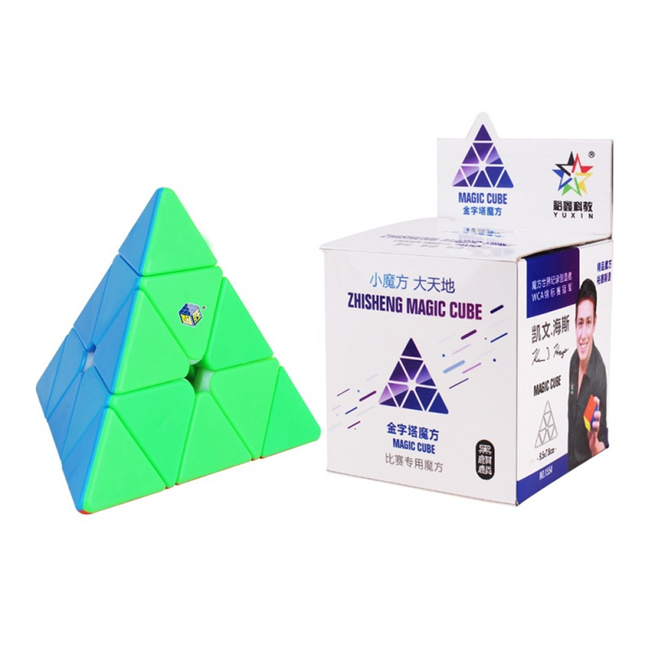 YUXIN ZHISHENG MAGIC CUBE 3x3 Pyramid Stickerless Cube Cubo Magico Puzzle Toy For Children Kids Gift