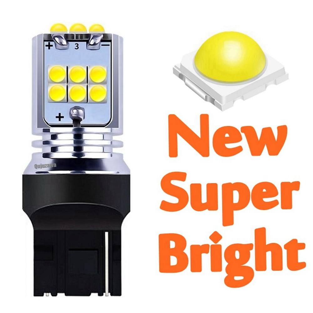 1 шт. T20 7440 W21W WY21W супер яркий 1800Lm светодиодный Авто резервный задний фонарь сигнал поворота автомобиля задние тормозные лампы дневные ходовы...