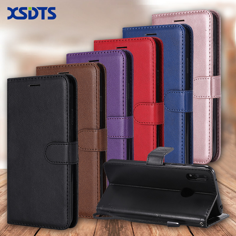 XSDTS Luxury <font><b>Leather</b></font> Wallet <font><b>Case</b></font> For <font><b>Huawei</b></font> <font><b>Y5</b></font> Y6 Prime Y7 Pro <font><b>2018</b></font> Y9 2019 Card Stand Flip <font><b>Case</b></font> Phone Cover Coque image