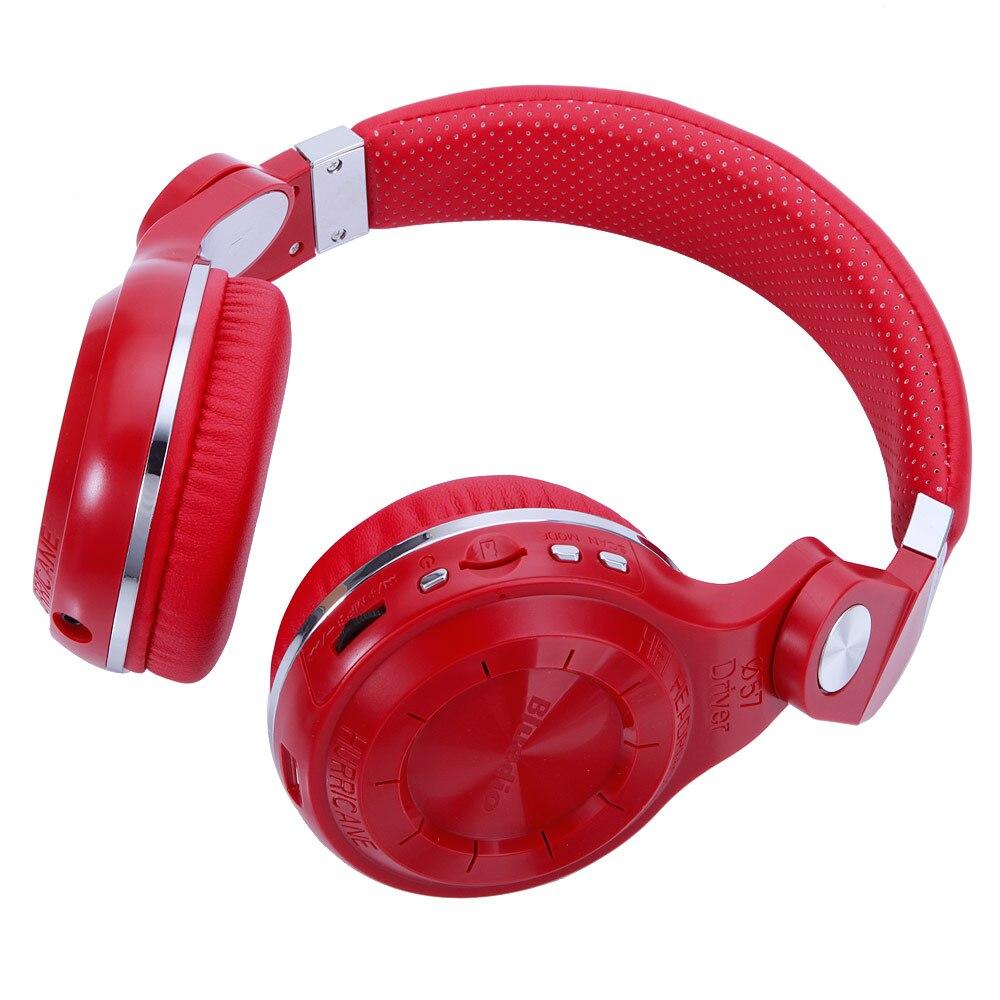 Bluedio T2  Head-mounted Handsfree Wireless Bluetooth Stereo Headphone Red GK99