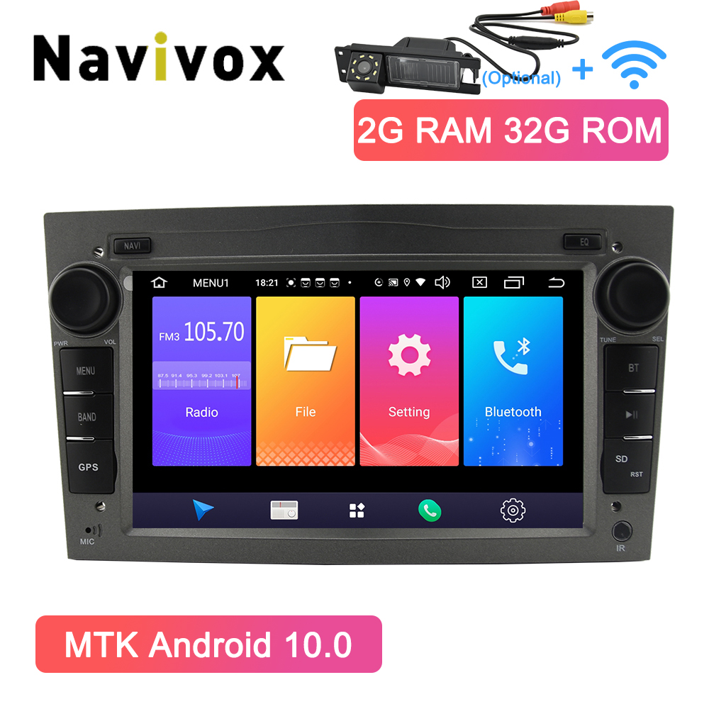 Navivox 2 Din Android 10.0 Opel DVD GPS For Opel Astra J Zafira B Astra G Corsa D Vivaro Vectra B Meriva Multimedia Car Player(China)