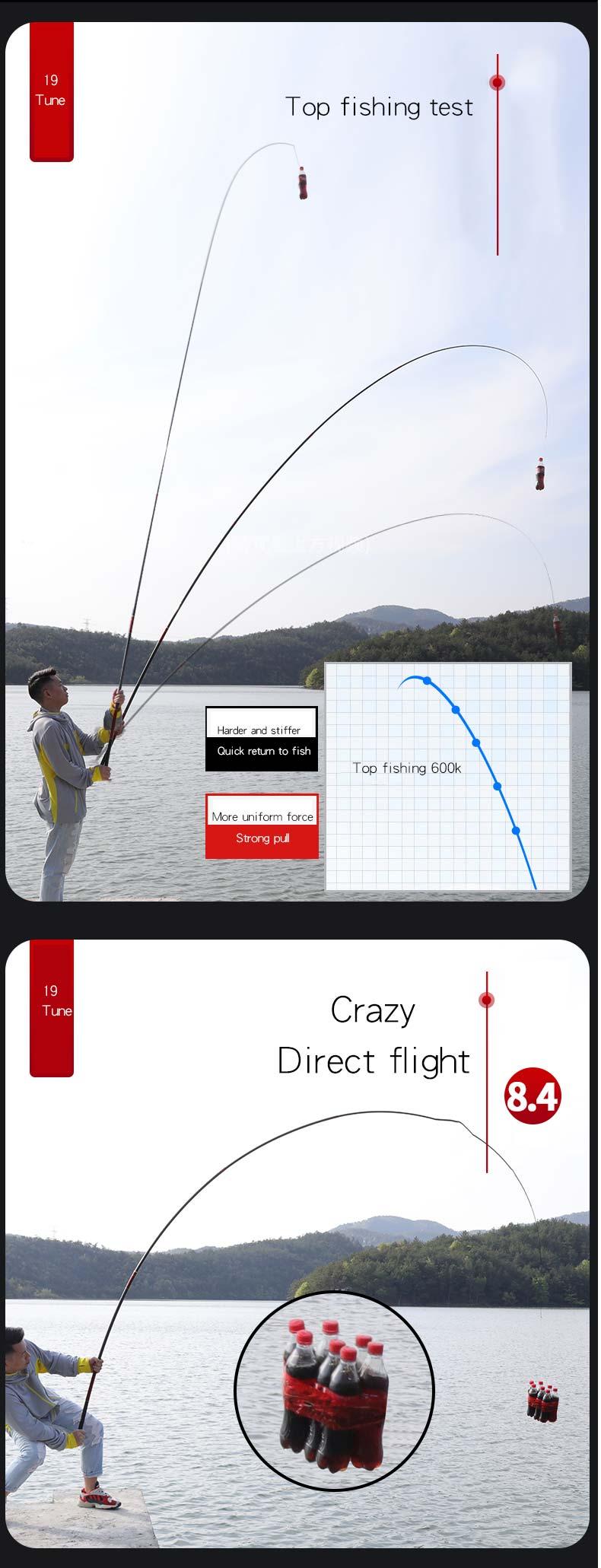 leve vara de pesca super hard 19