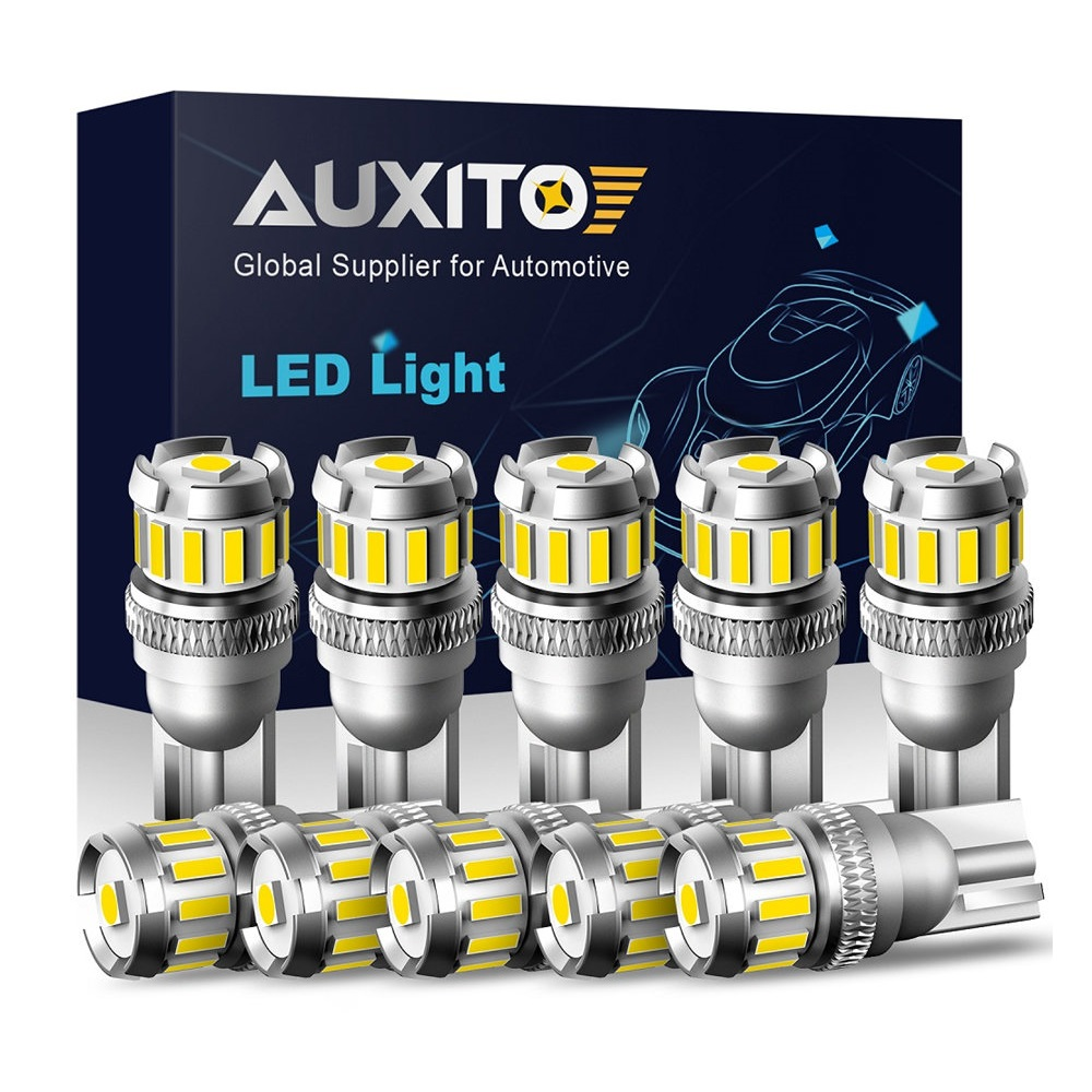 10X W5W LED T10 LED Bulbs Canbus 4014 3020SMD For BMW Audi Car Parking Position Lights Interior Map Dome Lights 12V White 6500K