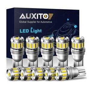 10X W5W светодиодный T10 светодиодный светильник Canbus 4014 3020SMD для BMW Audi, автомобильные парковочные огни, внутренняя карта, Купольные огни 12 В, Белы...