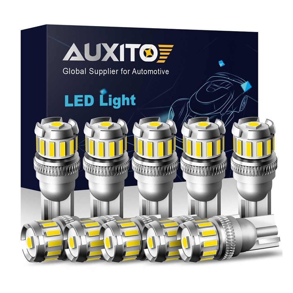 10X W5W LED T10 Lampu LED CANBUS 4014 3020SMD untuk BMW Audi Mobil Parkir Posisi Lampu Interior Peta Dome Lampu 12V Putih 6500K