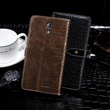 leather Case For Homtom HT26 Luxury Cover Crocodile Grain shockproof Leather Case For Homtom HT26 back Cover Phone Case(China)