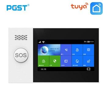 цена на PGST PG-107 Wireless Home WIFI GSM GPRS Burglar Home Security With Motion Detector Sensor Burglar Alarm System APP Control