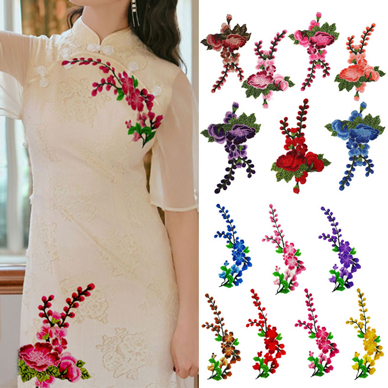Applique Cloth sticker Women Garment Dress Accessories Patches Embroidery flowers Patches Sewing On Fabric Elegant Lace Applique