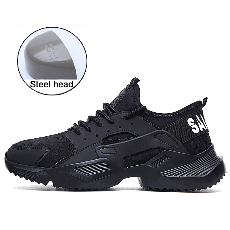 Men Shoes Work Safety Shoes Lightweight and Comfortable Non slip Steel Toe Cap Wear resistant Breathable Work Shoes|Work & Safety Boots| |  - title=