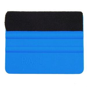 Image 4 - 1pc Dellautomobile della Pellicola Del Vinile strumenti di avvolgimento Blu Raschietto spatola con feltro dimensione bordo 10cm * 7 centimetri Auto adesivi Styling Accessori
