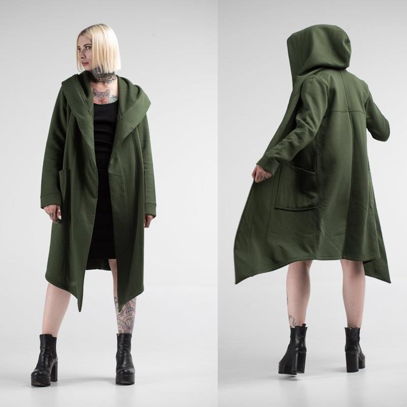 H641fc1398cb348e798673b21915f6fe2i Women Men Long Coats Burning Man Warm Casual Fashion Solid Thick Cosplay Hooded Jacket Coat Outwear Plus Size