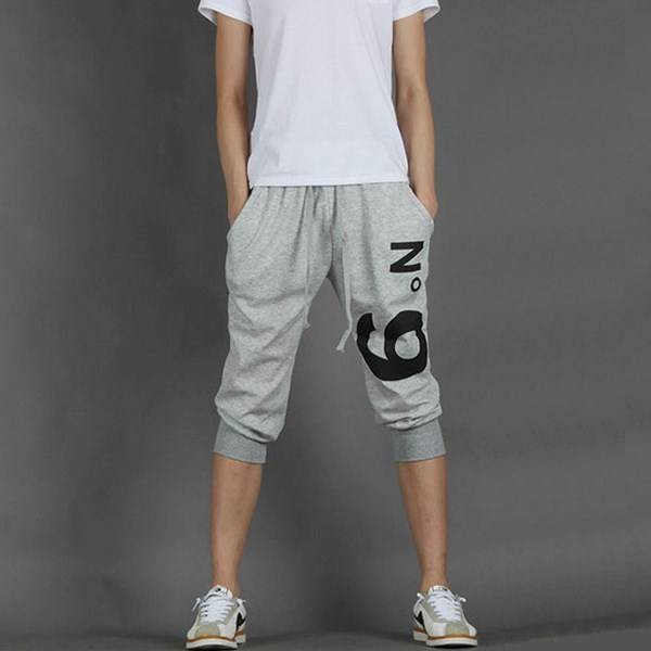 Loose-Fit Medium Teenager 13 Thin 12 Men's Cowboy Child 14 Capri Pants 16 Years Old Middle School Students Cotton Summer