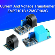 Transformer-Module Voltage-Sensor Output-Current Arduino Mega ZMPT101B ZMCT103C Single-Phase