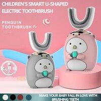 Cepillo de dientes eléctrico con patrón de dibujos animados para niños, con cabezal de repuesto suave, nuevo