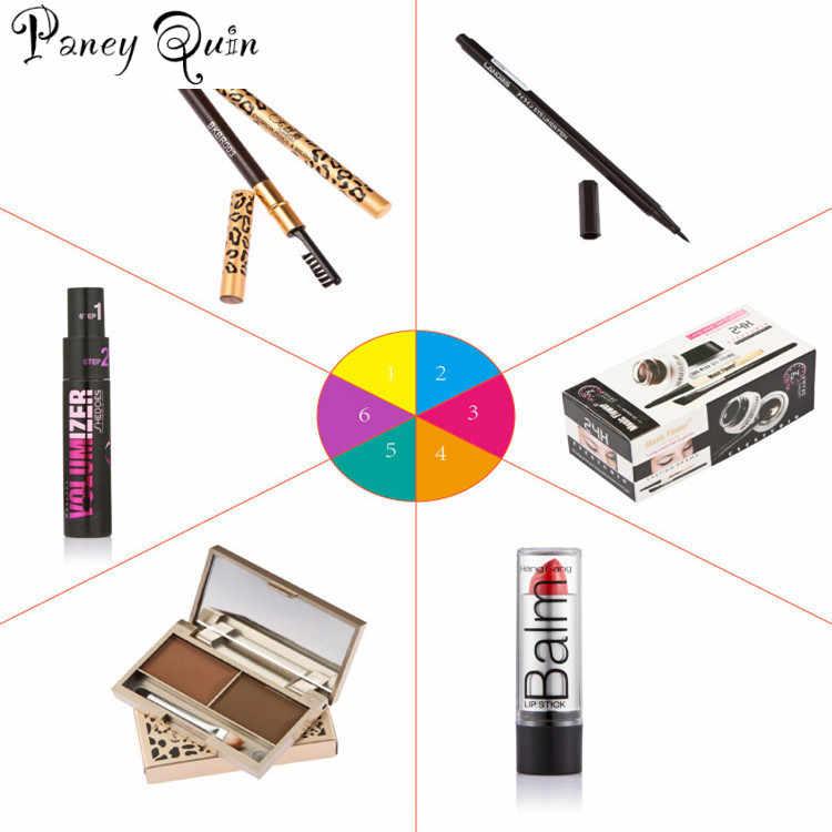 Набор инструментов для макияжа maquiagem гелевая подводка для глаз карандаш для бровей губная помада пудра для бровей Тушь для ресниц, косметика набор для макияжа
