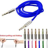 Hohe Qualität 1M Auto Audio Jack Stecker Stecker Auf Stecker AUX Kabel 3,5 Mm Audio Stecker auf Stecker Kabel für Kopfhörer MP3