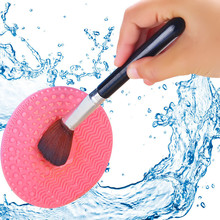 1pcs Makeup Brush Cleansing Pad Palette Brush Cleaner Cleaning silicon Mat Washing Scrubber Pad Cosmetic Make Up Cleaner Tools 1pc silicone brush cleaner mat washing tools for cosmetic make up eyebrow brushes cleaning pad scrubber board makeup cleaner