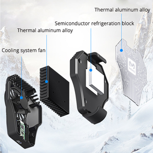 Image 4 - MEMO Mobile Phone Radiator Cold Wind PUBG Controller Gamepad Cooling Fan For 67 90mm Smart Phone Cooler