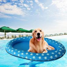TPFOCUS Inflatable Pet Dog Floating Row Beach Toy Dog Cat Swimming Tool Dog Pool Float Pet Water Floating Row Bed Inflatable Toy
